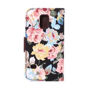 Květinové pouzdro na mobil Samsung Galaxy S5 mini - černé pozadí - 3