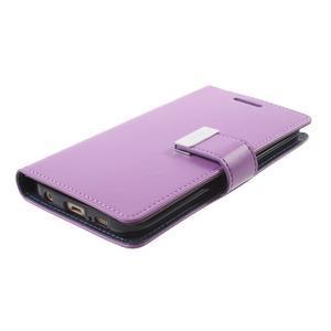 Richdiary PU kožené pouzdro na mobil Samsung Galaxy S6 Edge - fialové - 3