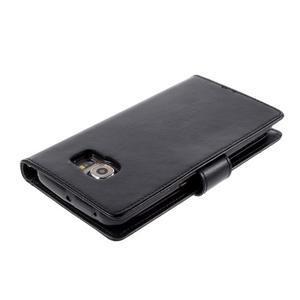 Richdiary PU kožené pouzdro na mobil Samsung Galaxy S6 Edge - černé - 3