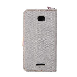 Jeans pouzdro na mobil Sony Xperia E4 - šedé - 3