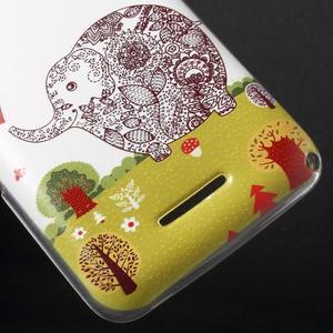 Gelový obal na Sony Xperia E4g - zamilovaný slon - 3
