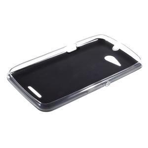 Gelový obal na Sony Xperia E4g s koženkovými zády - černý - 3