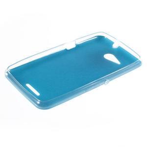 Gelový obal na Sony Xperia E4g s koženkovými zády - modrý - 3