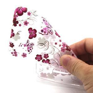 Vzorový gelový obal na Sony Xperia E4g - motýlci - 3