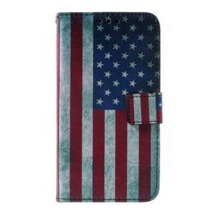 Peněženkové pouzdro na Sony Xperia E4g - USA vlajka - 3