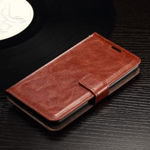 Horse PU kožené pouzdro na mobil Sony Xperia E4g - hnědé - 3
