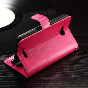 Horse PU kožené pouzdro na mobil Sony Xperia E4g - rose - 3