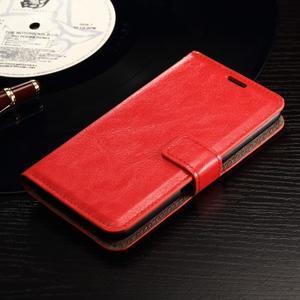 Horse PU kožené pouzdro na mobil Sony Xperia E4g - červené - 3