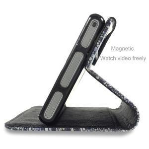 Standy peněženkové pouzdro Sony Xperia M2 Aqua - modrý motýl - 3