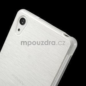 Broušený gelový obal na Sony Xperia Z2 - bílý - 3