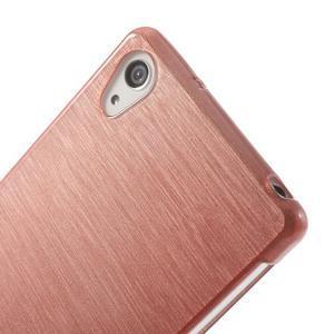 Broušený gelový obal na Sony Xperia Z2 - růžový - 3