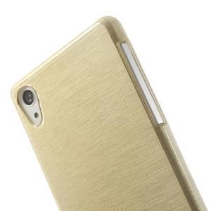 Broušený gelový obal na Sony Xperia Z2 - zlatý - 3