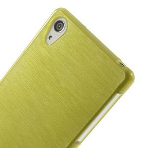 Broušený gelový obal na Sony Xperia Z2 - zelený - 3