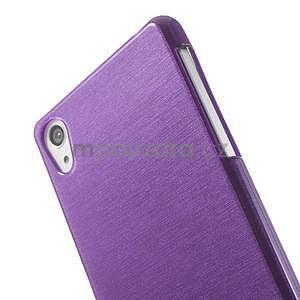 Broušený gelový obal na Sony Xperia Z2 - fialový - 3