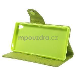 Zelené peněženkové pouzdro na Sony Xperia Z3 - 3