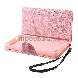 Růžové peněženkové pouzdro na Sony Xperia Z3 Compact - 3