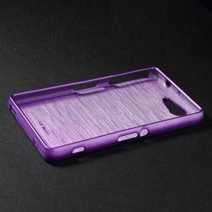 Broušený obal na Sony Xperia Z3 Compact D5803 - fialový - 3