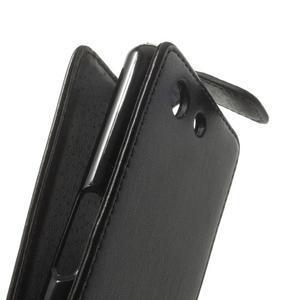 Černé flipové pouzdro na Sony Xperia Z3 Compact D5803 - 3