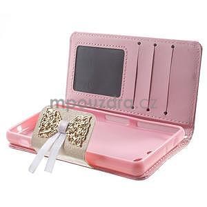 Zapinací pouzdro s mašličkou na Sony Xperia Z3 Compact - růžové - 3