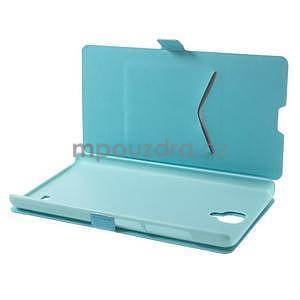 PU kožené pouzdro na Xiaomi Hongmi Note - světle modré - 3