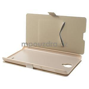 PU kožené pouzdro na Xiaomi Hongmi Note - champagne - 3