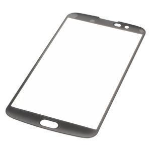 Celoplošné fixační tvrzené sklo na displej LG K10 - černé - 3