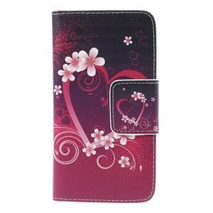 Emotive PU kožené pouzdro na mobil Samsung Galaxy A5 - srdce - 3
