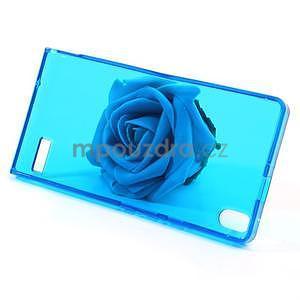Gelové pouzdro na Huawei Ascend P6 - modré - 3