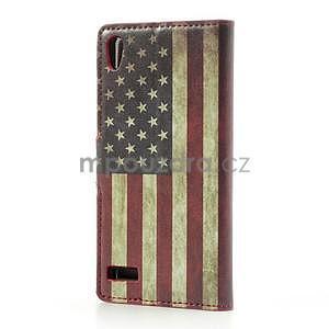 Peněženkové pouzdro na Huawei Ascend P6 - USA vlajka - 3