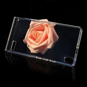 Gelové pouzdro na Huawei Ascend P6 - transparentní - 3