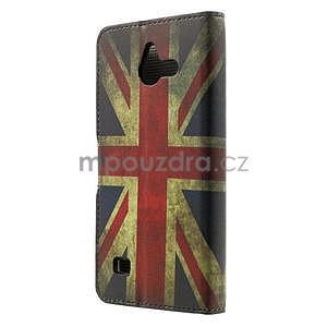 Peněženkové pouzdro na Huawei Ascend Y550 - UK vlajka - 3