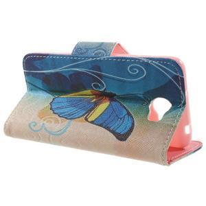 Emotive peněženkové pouzdro na Huawei Y5 II - modrý motýl - 3