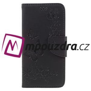Butterfly PU kožené pouzdro na mobil Huawei Y5 II - černé - 3