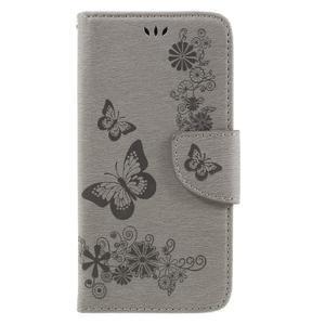 Butterfly PU kožené pouzdro na mobil Huawei Y5 II - šedé - 3