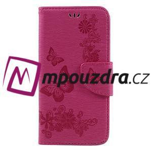 Butterfly PU kožené pouzdro na mobil Huawei Y5 II - rose - 3