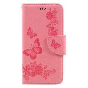 Butterfly PU kožené pouzdro na mobil Huawei Y5 II - růžové - 3