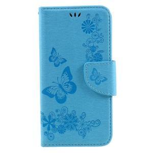 Butterfly PU kožené pouzdro na mobil Huawei Y5 II - světlemodré - 3