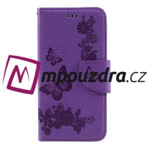 Butterfly PU kožené pouzdro na mobil Huawei Y5 II - fialové - 3