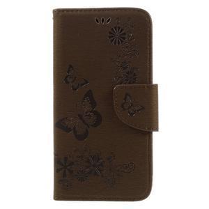 Butterfly PU kožené pouzdro na mobil Huawei Y5 II - hnědé - 3