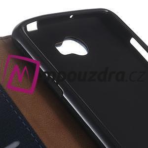 Clothy peněženkové pouzdro na Huawei Y5 II - tmavěmodré - 3