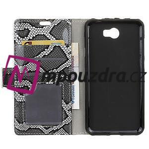 Pouzdro s hadím motivem na mobil Huawei Y5 II - stříbrné - 3