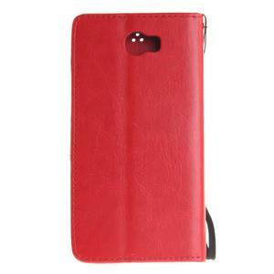 Dandelion PU kožené pouzdro na Huawei Y5 II - červené - 3