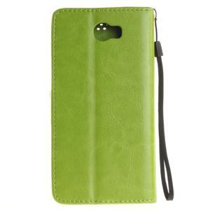 Dandelion PU kožené pouzdro na Huawei Y5 II - zelené - 3