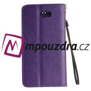 Dandelion PU kožené pouzdro na Huawei Y5 II - fialové - 3