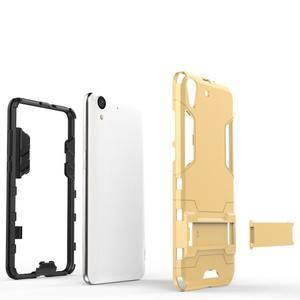 Outdoor odolný obal na mobil Huawei Y6 II a Honor 5A - šedomodrý - 3