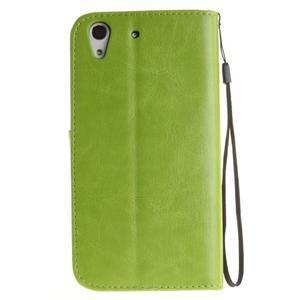 Dandelion PU kožené pouzdro na Huawei Y6 II a Honor 5A - zelené - 3