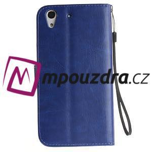 Dandelion PU kožené pouzdro na Huawei Y6 II a Honor 5A - modré - 3