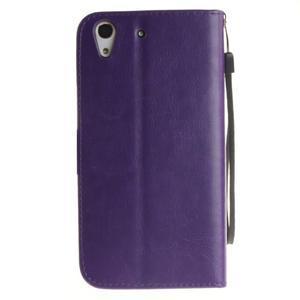 Dandelion PU kožené pouzdro na Huawei Y6 II a Honor 5A - fialové - 3