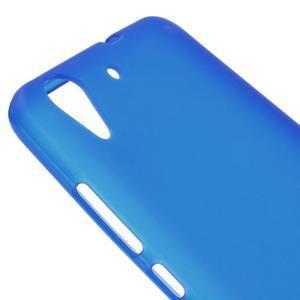 Matný gelový obal na Huawei Y6 II a Honor 5A - modrý - 3