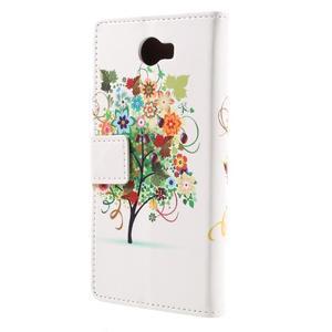 Emotive peněženkové pouzdro na Huawei Y6 II Compact - barevný strom - 3